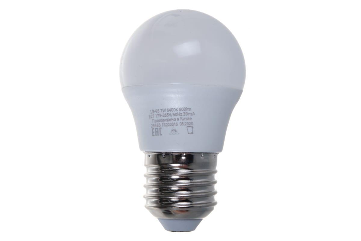 Светодиодная лампа - шарик E27 7W 6400K FERON LB-95 25483