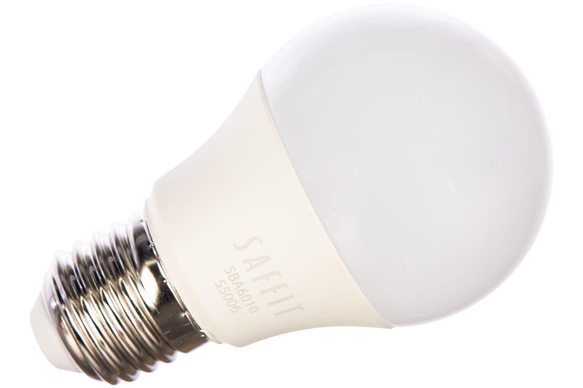 Светодиодная лампа SAFFIT SBA6010 Шар E27 10W 6400K 55006