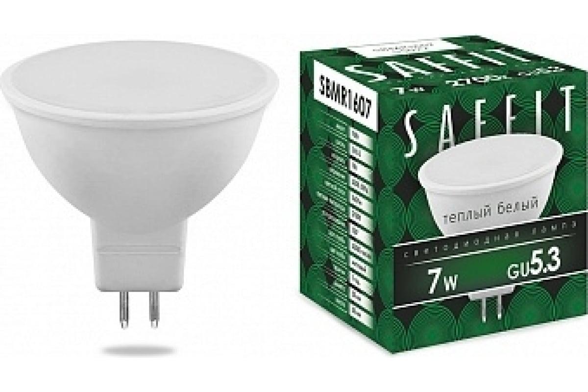 Светодиодная лампа SAFFIT SBMR1607 MR16 GU5.3 7W 2700K 55027
