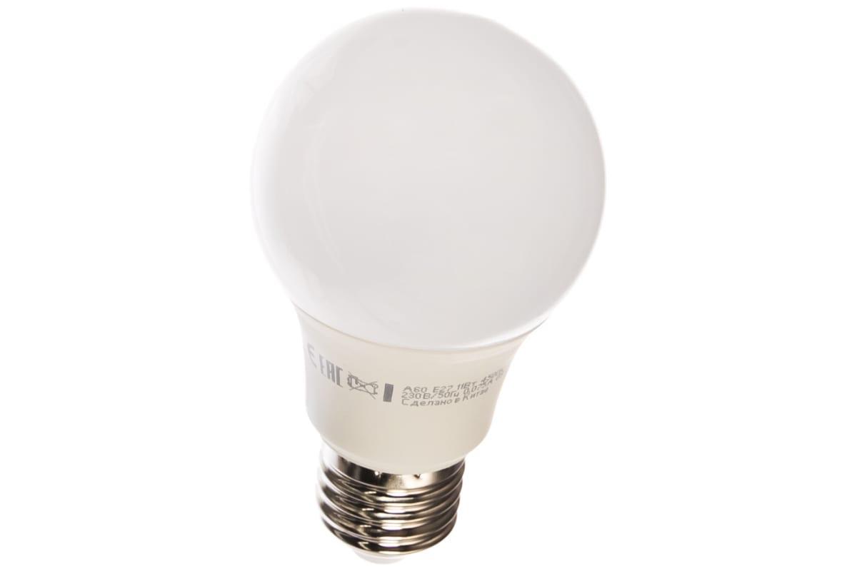 Светодиодная лампа LED A60 11Вт 220В E27 4500К КОСМОС Экономик LkecLED11wA60E2745 441266