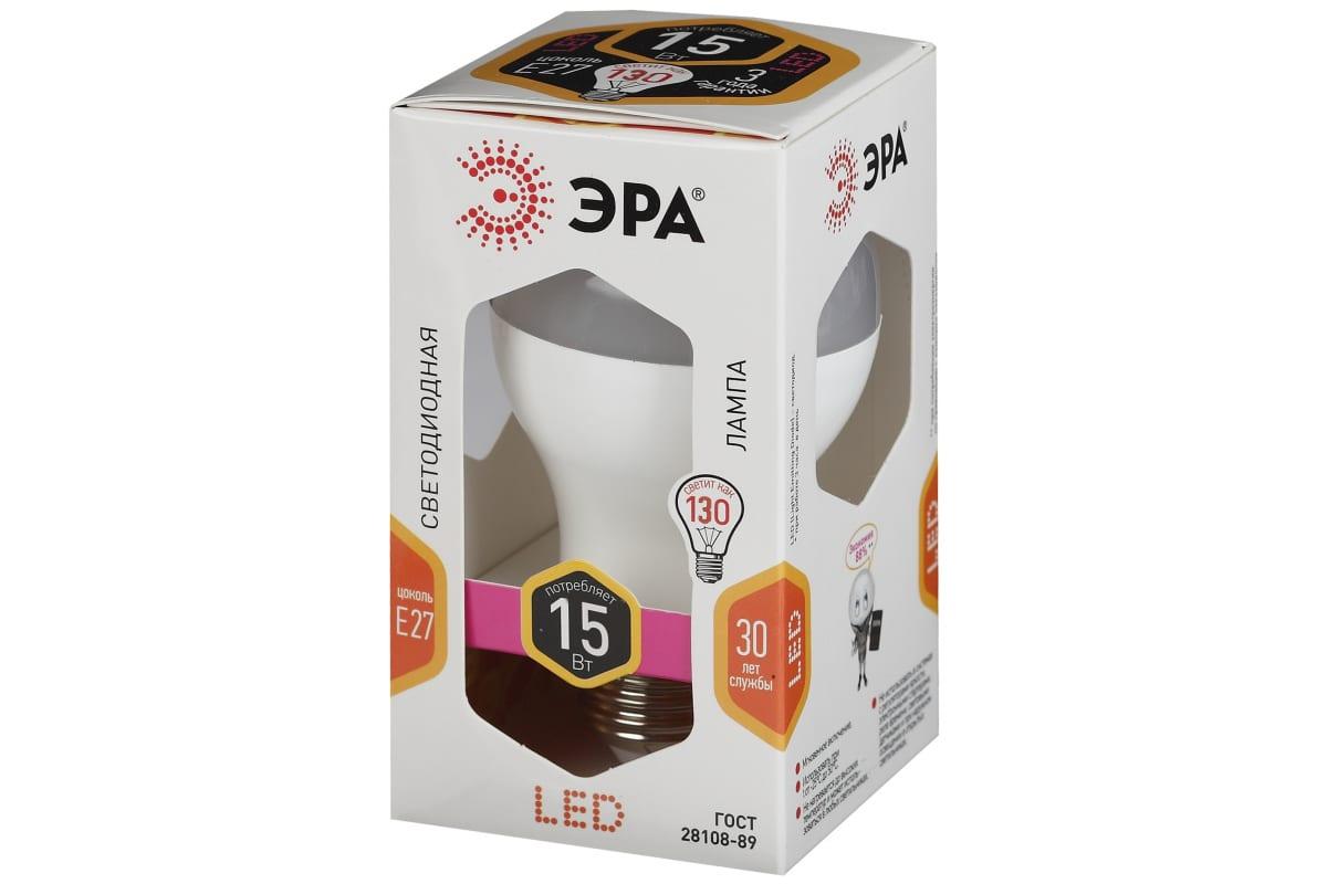 Светодиодная лампа ЭРА LED smd A60-15W-827-E27 Б0020592