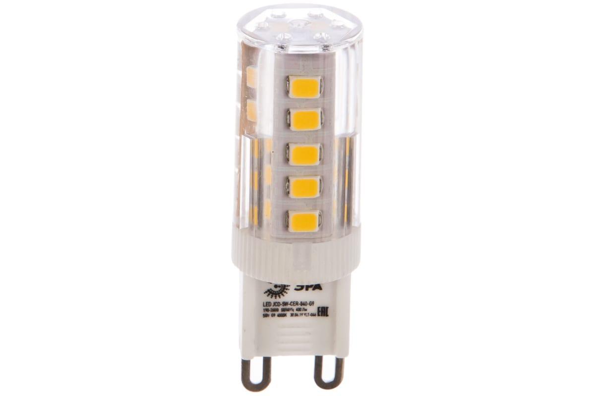 Светодиодная лампа ЭРА LED smd JCD-5w-220V-corn ceramics-840-G9 Б0027864
