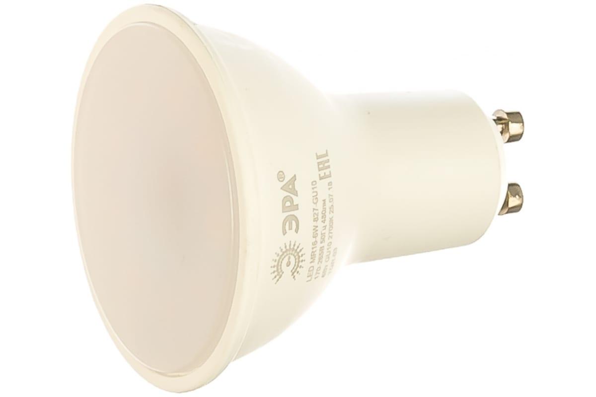 Светодиодная лампа ЭРА LED smd MR16-6w-827-GU10 Б0020543