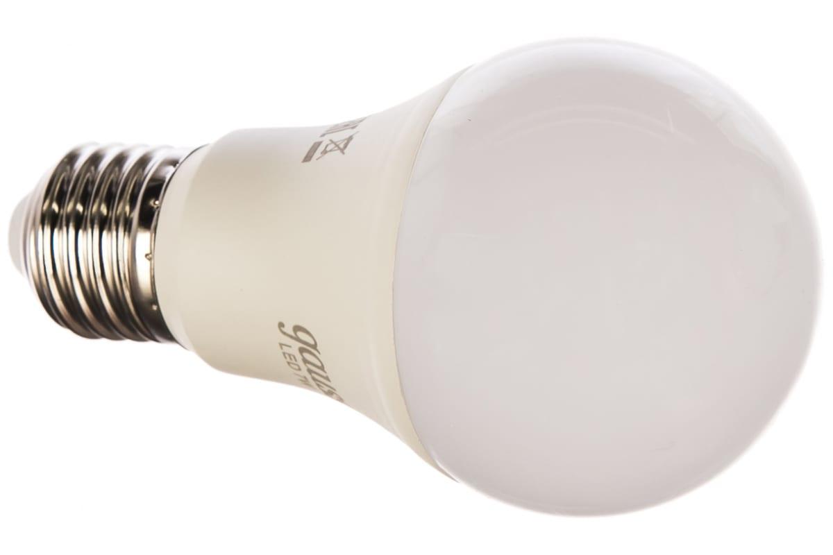 Лампа Gauss LED A60 E27 7W 680lm 3000K 1/10/50 102502107