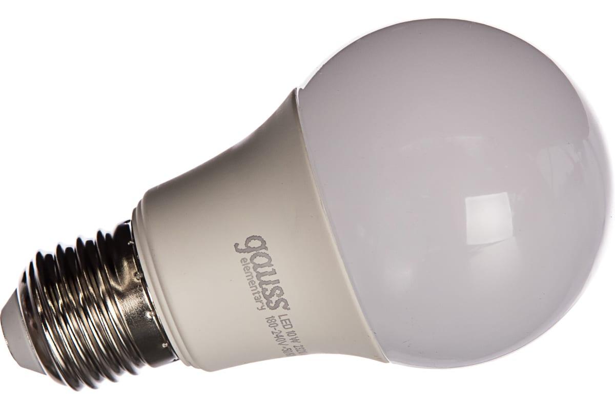 Лампа LED A60 10W E27 3000K Gauss Elementary 23210