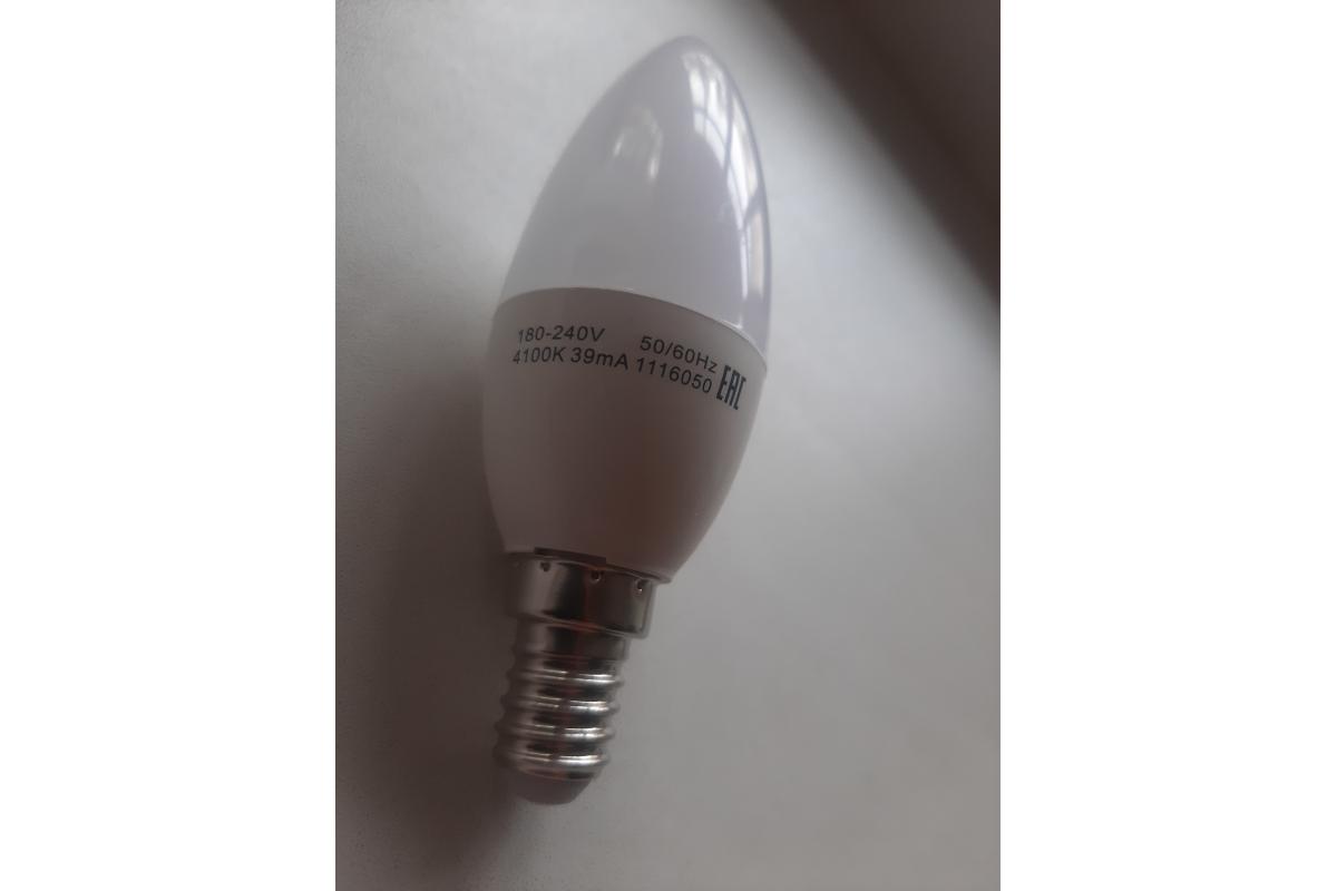 Лампа LED Candle 6W E14 4100K Gauss Elementary 33126