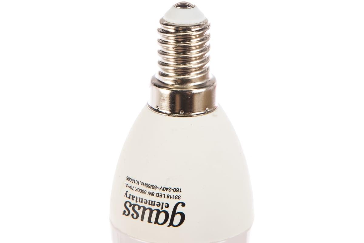 Лампа LED Candle 8W E14 3000K Gauss Elementary 33118