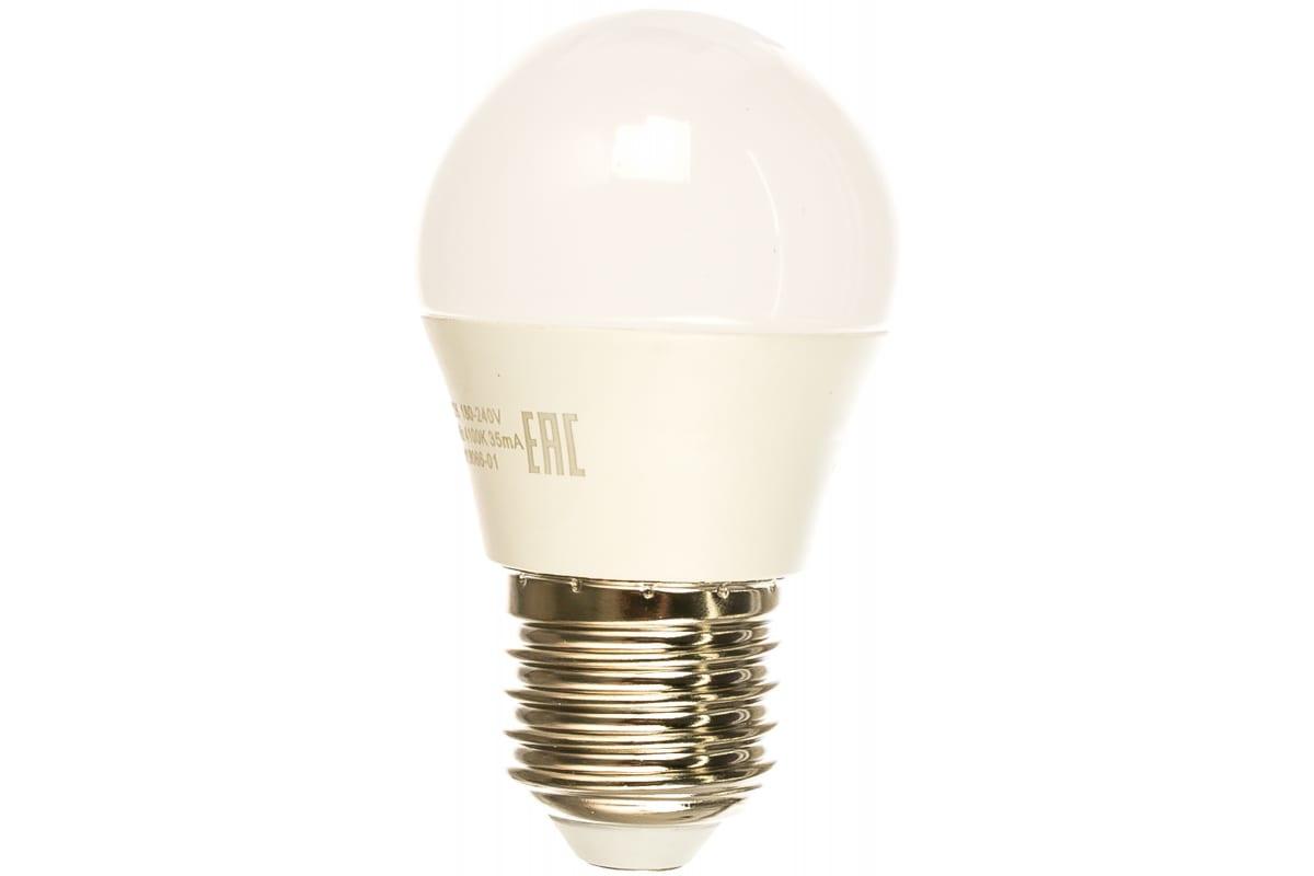 Лампа LED Globe 6W E27 4100K Gauss Elementary 53226