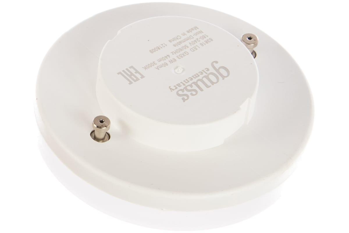 Лампа LED GX53 6W 3000K Gauss Elementary 83816