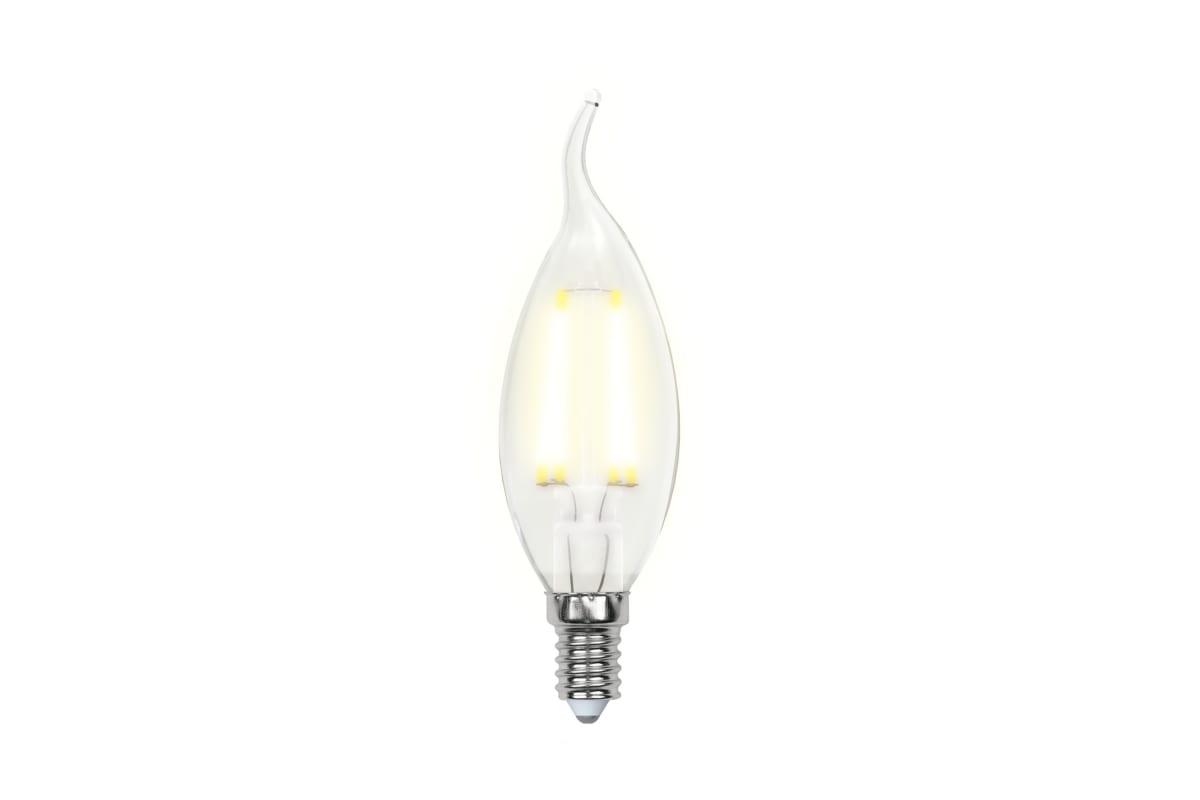 Светодиодная лампа Uniel LED-CW35-6W/WW/E14/CL PLS02WH UL-00000200