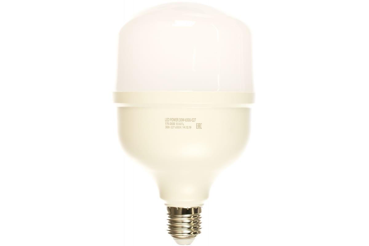 Светодиодная лампа ЭРА LED smd POWER 30W-6500-E27 Б0027004