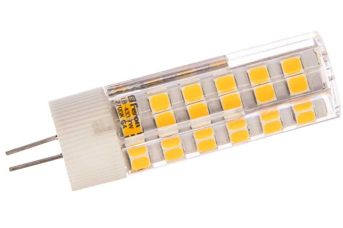Светодиодная лампа FERON 7W 230V G4 2700K LB-433 25863
