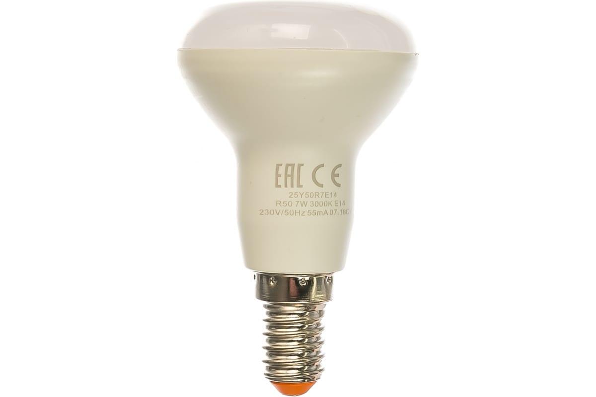 Лампа LED Wolta 3000K 25Y50R7E14