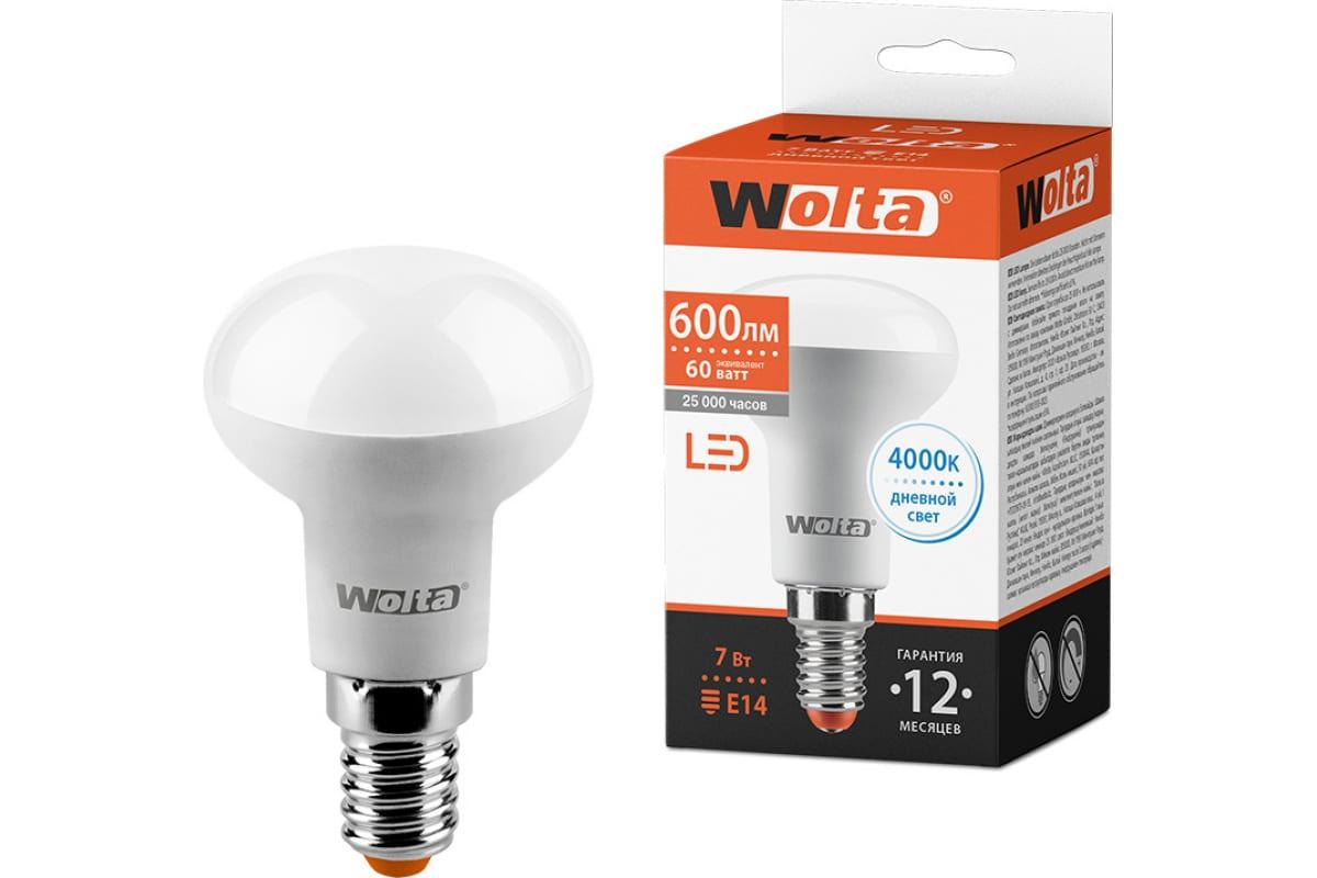 Лампа LED Wolta 4000K 25S50R7E14