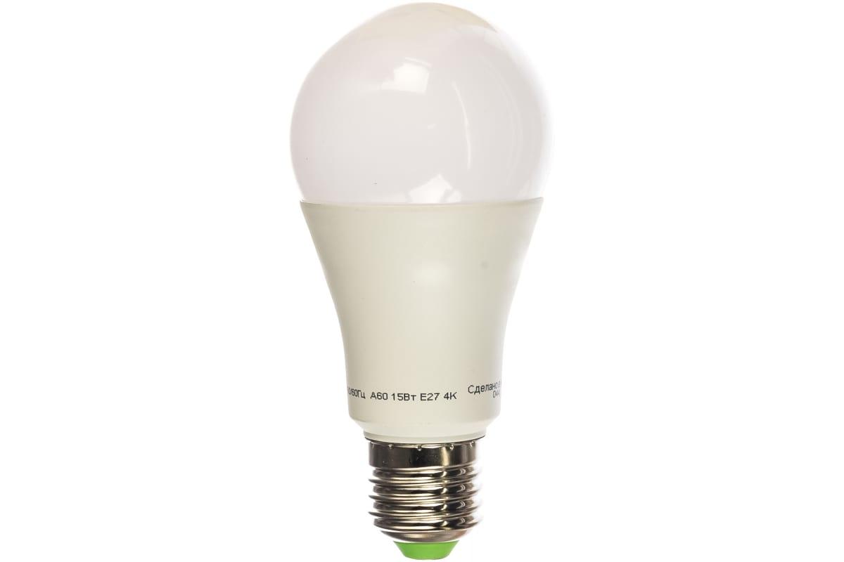 Светодиодная лампа Navigator 71 365 NLL-A60-15-230-4K-E27 15Вт E27 1200лм 230В 19420 423079