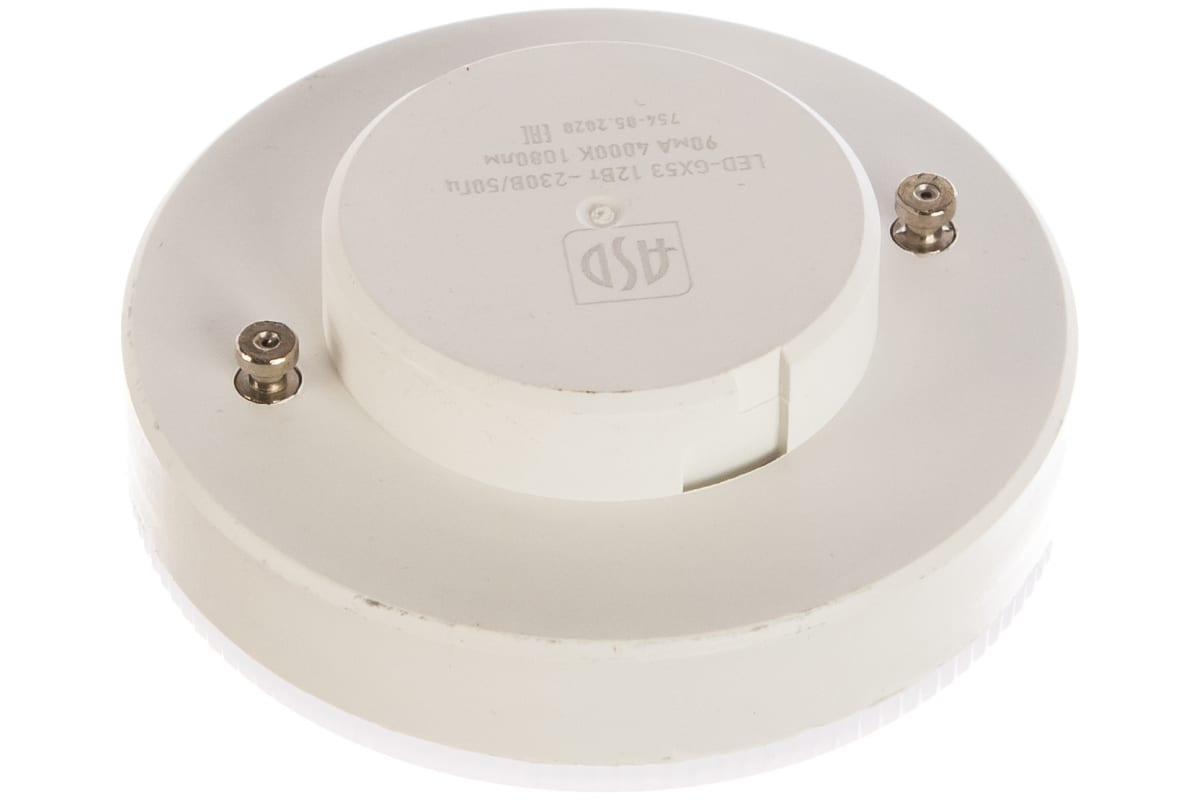 Светодиодная лампа ASD LED-GX53-standard 12Вт 230В 4000К 1080Лм 4690612014425