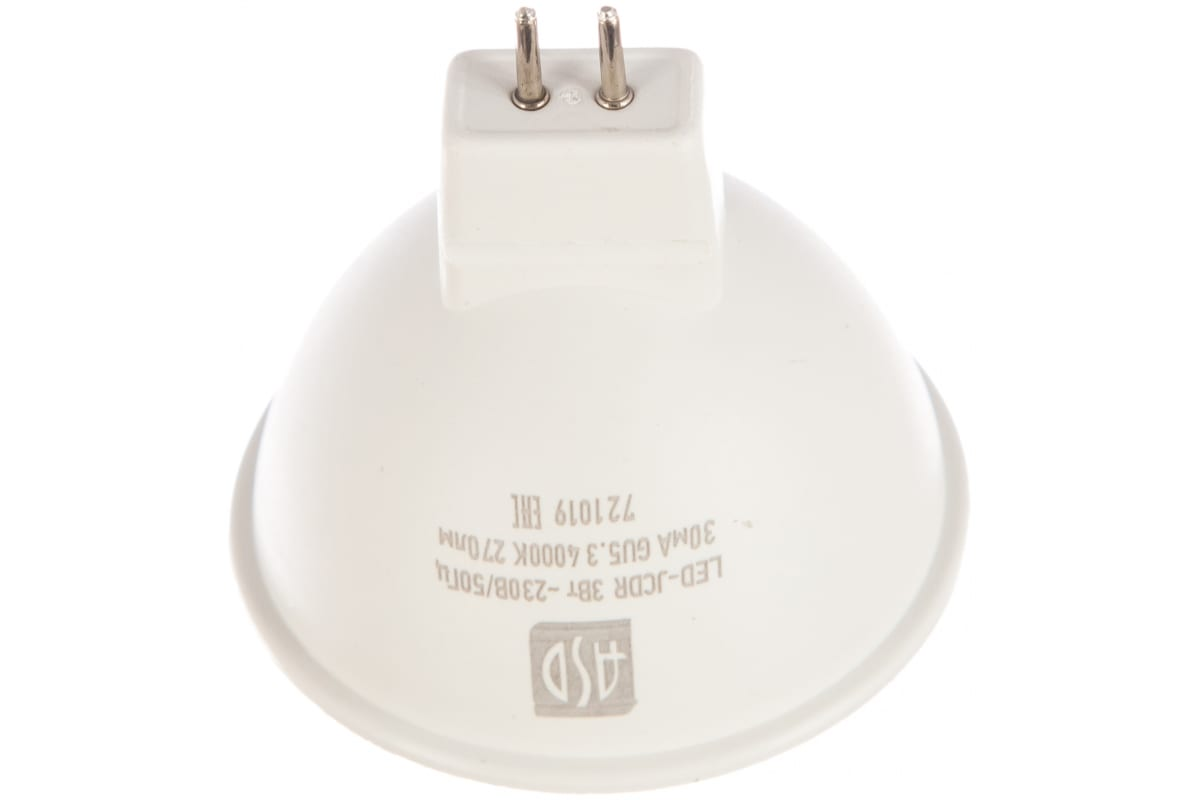 Светодиодная лампа ASD LED-JCDR-standard 3Вт 230В GU5.3 4000К 270Лм 4690612001418