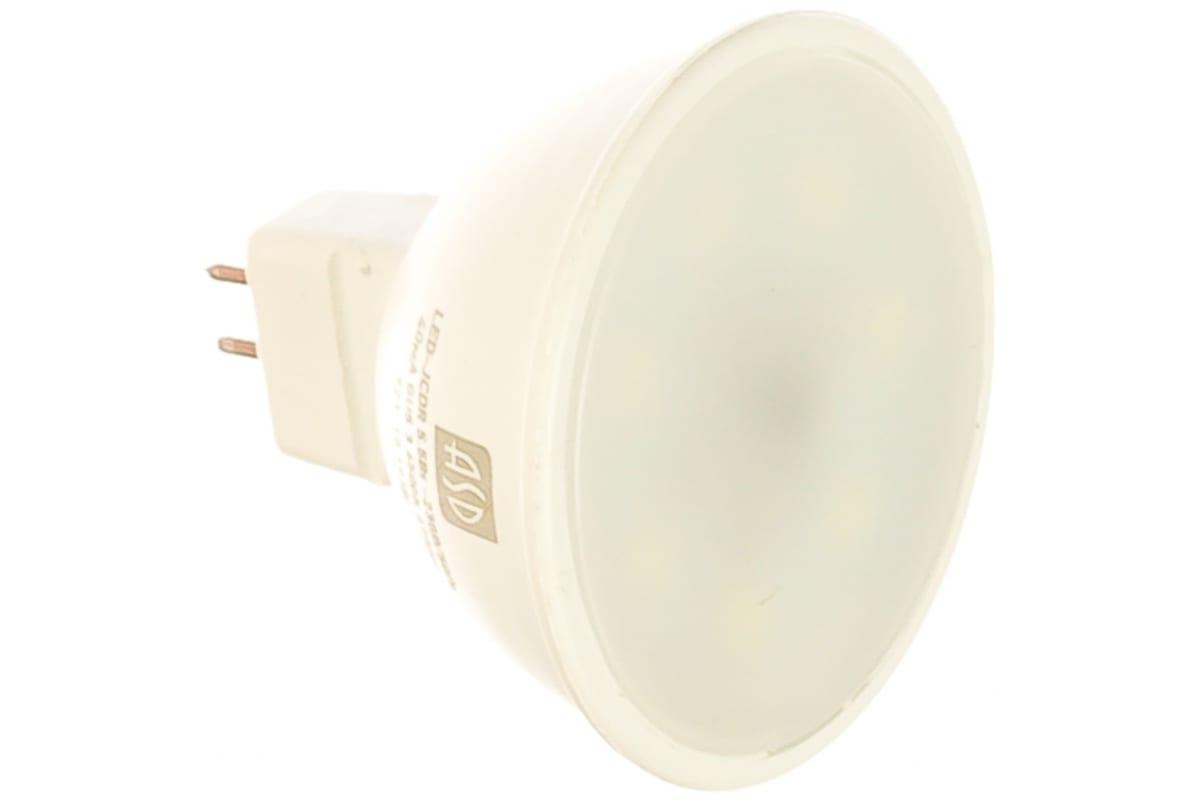 Светодиодная лампа ASD LED-JCDR-standard 5.5Вт 230В GU5.3 6500К 495Лм 4690612012261