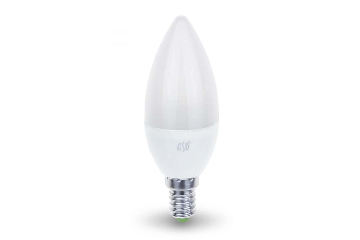 Светодиодная лампа ASD LED-СВЕЧА-standard 5Вт 230В Е14 4000К 450Лм 4690612002224