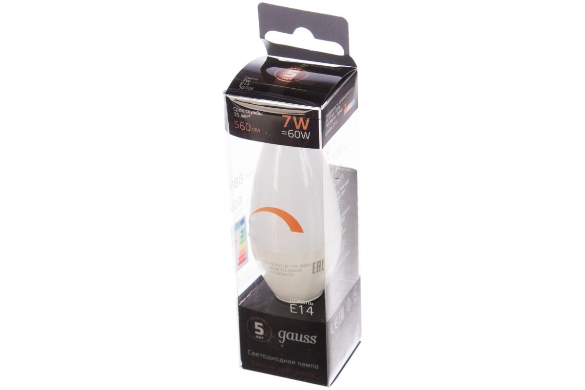 Лампа Gauss LED Свеча-dim E14 7W 560lm 3000К 103101107-D