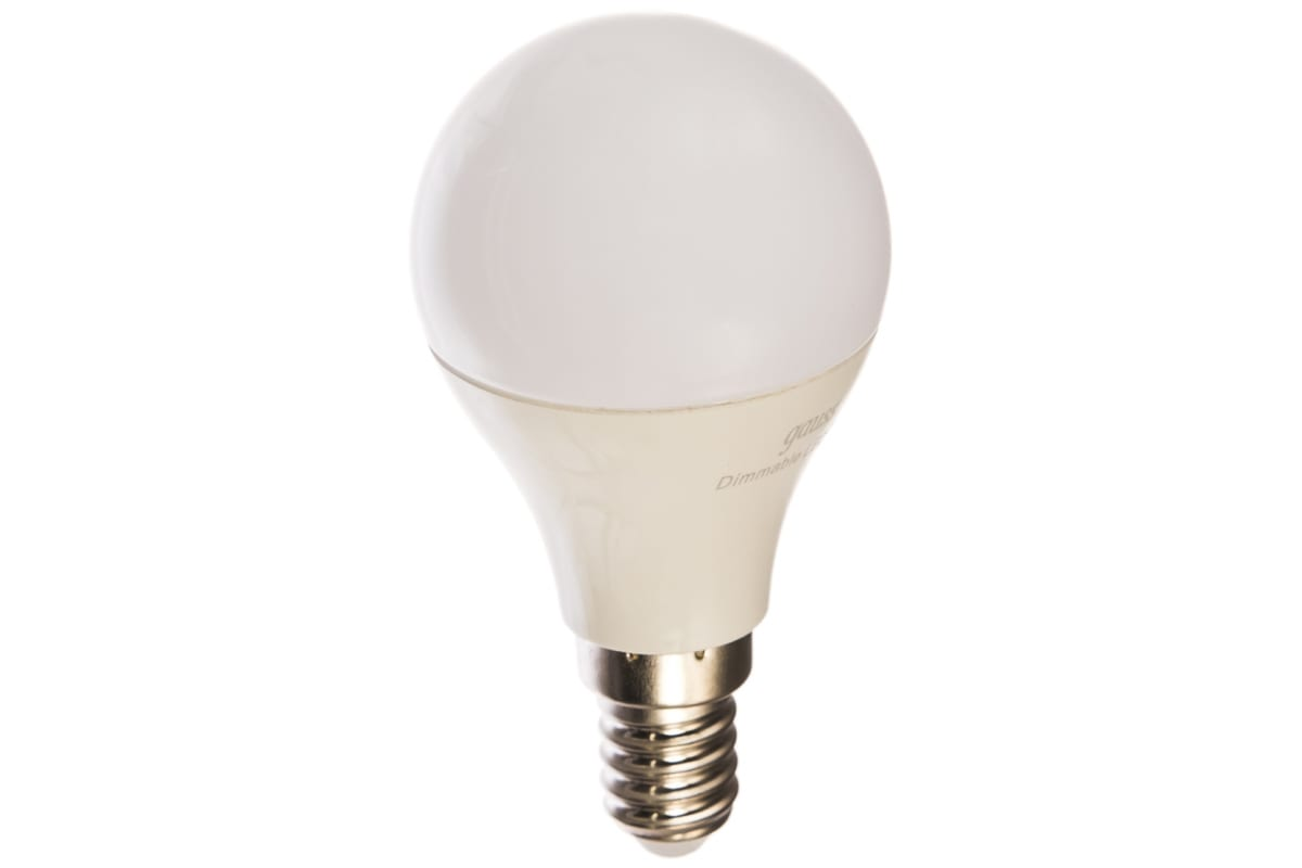 Лампа Gauss LED Шар-dim E14 7W 560lm 3000К 105101107-D