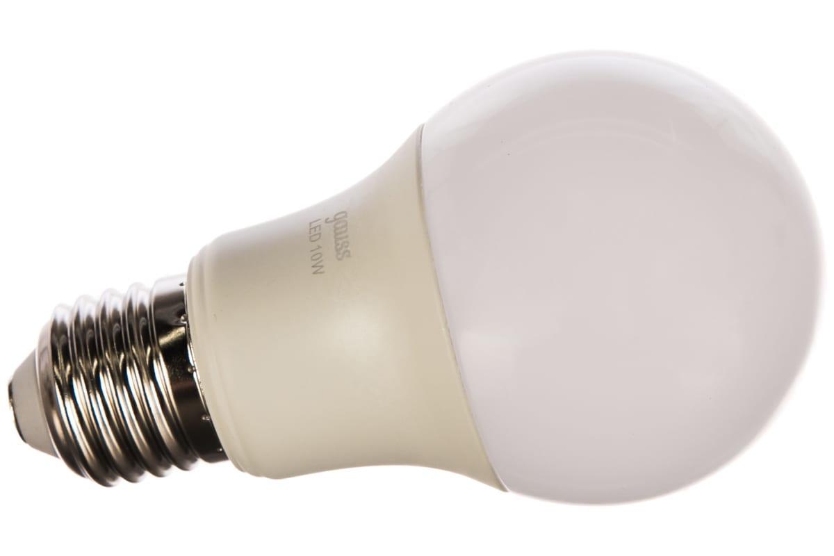 Лампа Gauss LED A60 10W E27 920lm 4100K 102502210