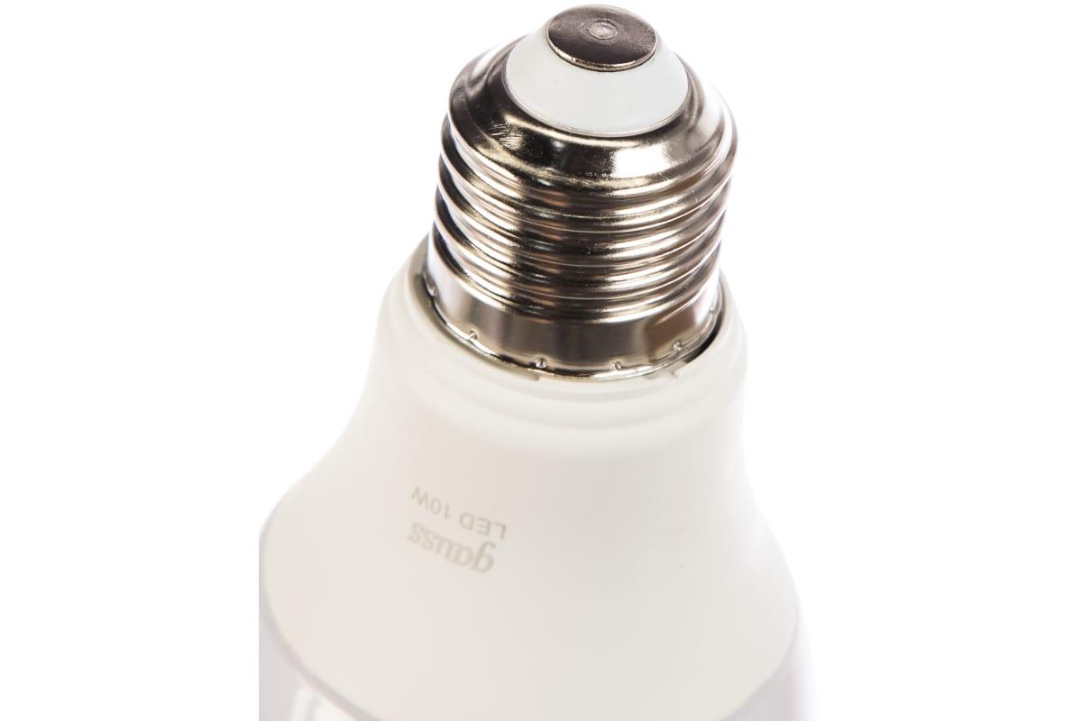 Лампа Gauss LED A60 10W E27 920lm 4100K 102502210-S