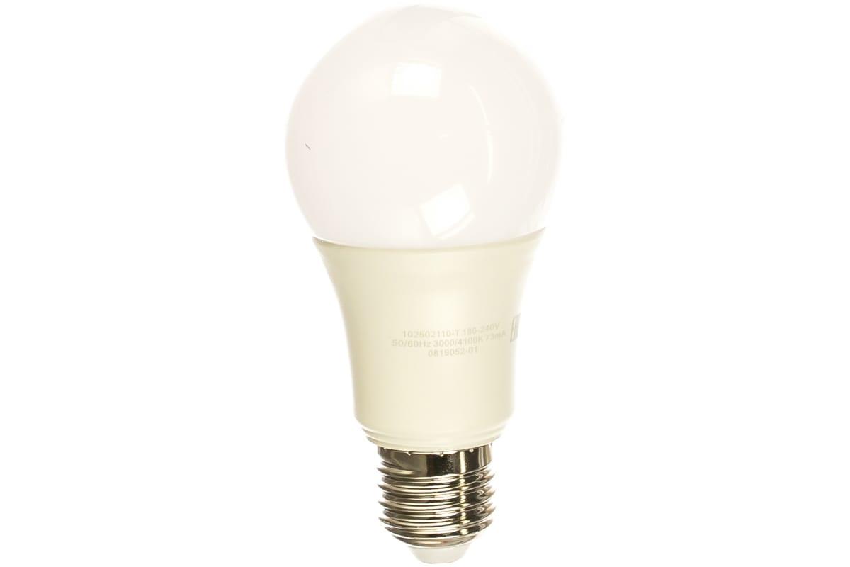 Лампа Gauss LED A60 10W E27 930lm 3000K/4100K CTC 1/10/50 102502110-T