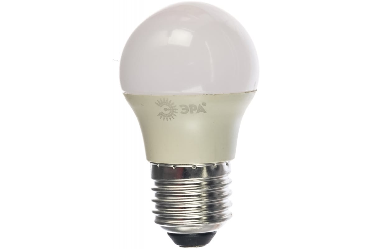 Светодиодная лампа ЭРА ECO LED Р45-6W-827-E27 шар теплый Б0020629
