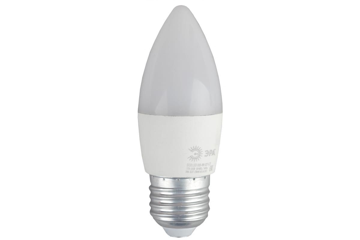 Светодиодная лампа ЭРА ECO LED B35-8W-827-E27 свеча теплый Б0030020