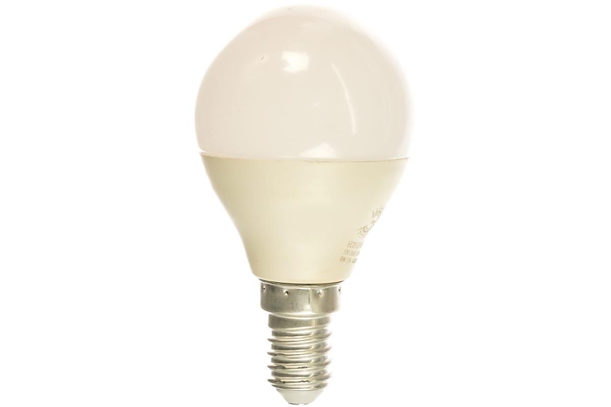 Светодиодная лампа ЭРА ECO LED P45-8W-840-E14 шар нейтральный Б0030023