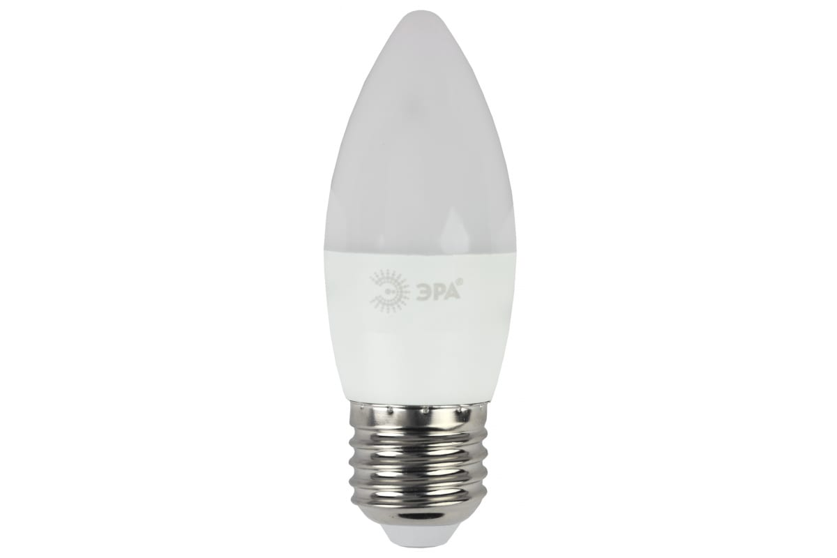 Светодиодная лампа ЭРА LED B35-7W-860-E27 свеча холодный Б0031413