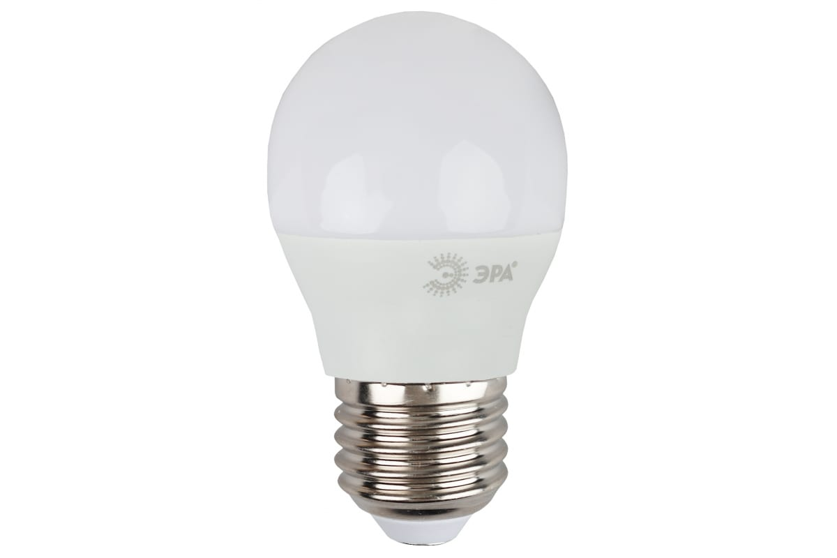 Светодиодная лампа ЭРА LED P45-9W-827-E27 диод шар тепл Б0029043