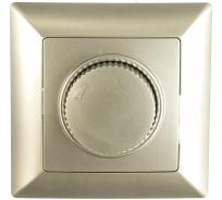 Поворотный светорегулятор Intro 440103 600Вт 230В, СУ, Solo, алюминий Б0043398