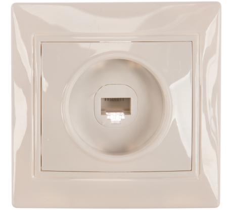 Телефонная розетка Smartbuy 1-местная белая Венера SBE-01w-S1-PH - цена, отзывы, характеристики, фото - купить в Москве и РФ