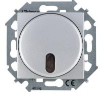 Светорегулятор Simon с упр. от ИК пульта, проходной, 500Вт, 230В, алюминий 1591713-033