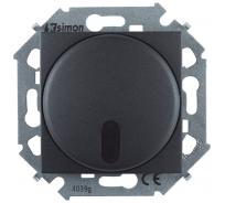 Светорегулятор с управлением Simon от ИК пульта, проходной, 500Вт, 230В, винтовой зажим, графит 1591713-038