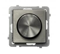 Поворотно-нажимной светорегулятор Ospel Sonata, сталь LP-8RM/m/37