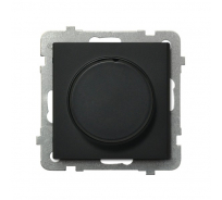 Поворотно-нажимной светорегулятор Ospel Sonata черный металлик LP-8R/m/33