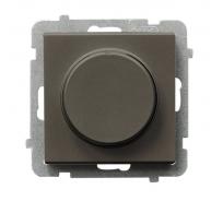 Поворотно-нажимной светорегулятор Ospel Sonata шоколадный металлик LP-8R/m/40