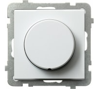 Поворотно-нажимной светорегулятор Ospel Sonata белый LP-8R/m/00