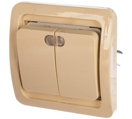 Двухклавишный выключатель с индикатором СВЕТОЗАР CITY, SV-54135-B в Челябинске - купить, цены, отзывы, характеристики, фото, инструкция