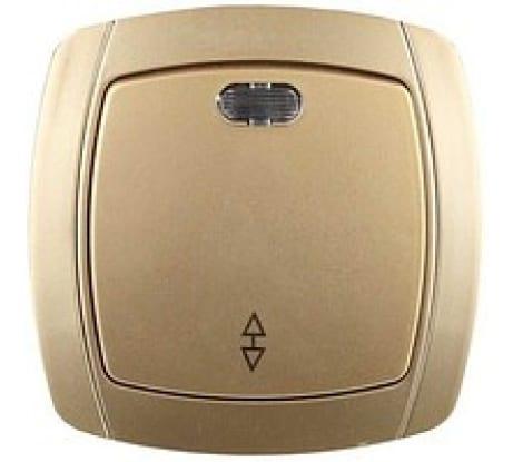 Проходной выключатель одноклавишный с индикатором СВЕТОЗАР АКЦЕНТ SV-54238-GM в Челябинске - купить, цены, отзывы, характеристики, фото, инструкция