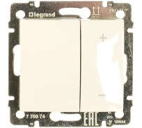 Нажимной светорегулятор, белый 40-600W Legrand Valena 770074