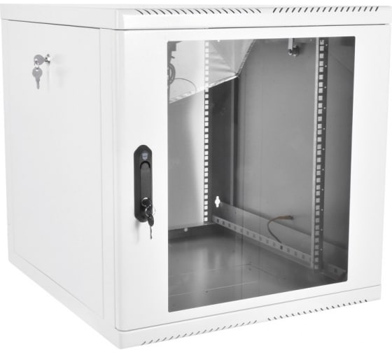 Настенный телекоммуникационный шкаф ЦМО дверь стекло, разборный, серый ШРН-М-12.650 в Уфе - купить, цены, отзывы, характеристики, фото, инструкция