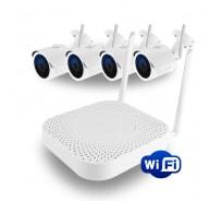 Комплект GINZZU WiFi HK-440W 4ch, 720P, HDMI, 4улич кам 1.0Mp, IR30м 15608