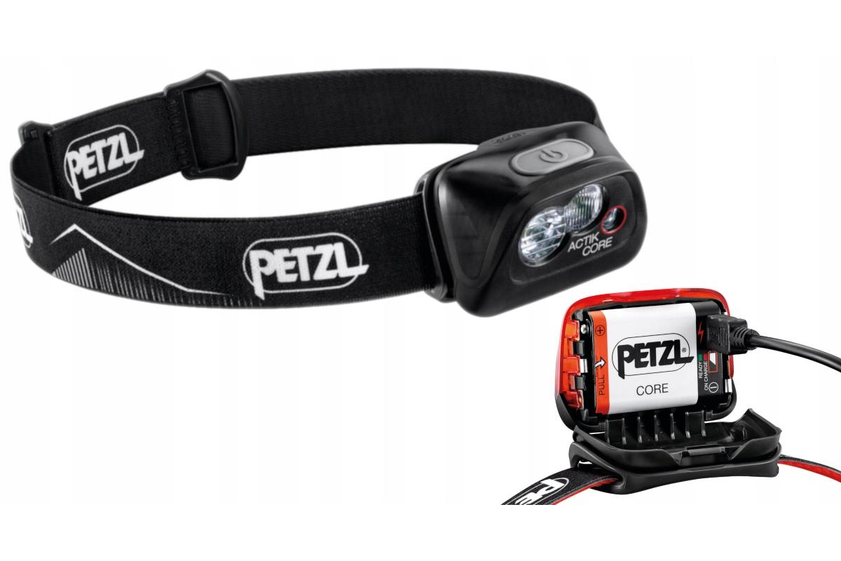 Petzl actik Core 2019//20 Projecteur 450 lm avec Core Batterie Noir