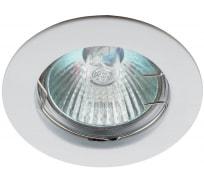 Светильник ЭРА KL1 WH /1 литой простой MR16,12V, 50W белый 100/2100 Б0048968