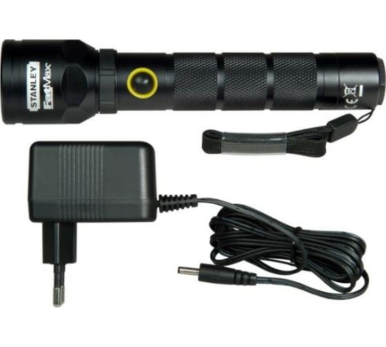 Аккумуляторный светодиодный фонарь Stanley FatMax Aluminium Torch Rechargeable 1-95-154 - цена, отзывы, характеристики, фото - купить в Москве и РФ