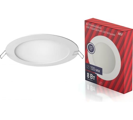 Светодиодная встраиваемая панель REV SuperSlim Round, круглая Ф120мм, 8W, 4000К 28944 9 - цена, отзывы, характеристики, фото - купить в Москве и РФ